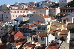 Visión desde arriba de Lisboa céntrica Imagen de archivo