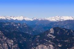 Visión desde arriba de Monte Baldo Fotografía de archivo libre de regalías