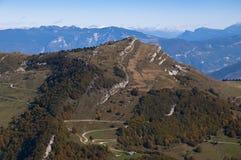 Visión desde arriba de Monte Baldo Fotos de archivo