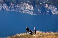Visión desde arriba de Monte Baldo Foto de archivo