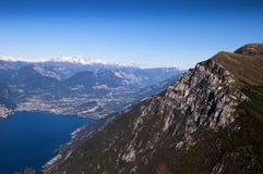 Visión desde arriba de Monte Baldo Fotos de archivo libres de regalías