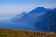 Visión desde arriba de Monte Baldo Imagen de archivo libre de regalías