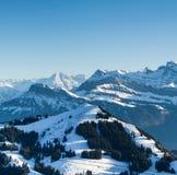 Visión desde arriba de Mt. Rigi, Suiza Fotografía de archivo