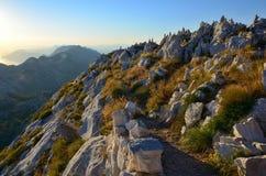 Visión desde arriba de Sveti Jure en la reserva de Biokovo, Croacia fotos de archivo libres de regalías