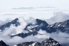 Visión desde arriba del Kitzsteinhorn Fotos de archivo libres de regalías