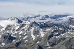 Visión desde arriba del Kitzsteinhorn Imágenes de archivo libres de regalías