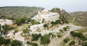 Visión desde arriba del monasterio almacen de video