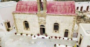 Visión desde arriba del monasterio almacen de metraje de vídeo
