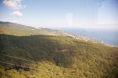 Visión desde arriba del soporte Ai-Petri Fotos de archivo