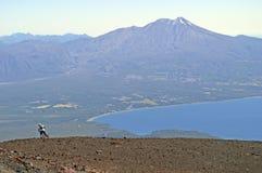 Visión desde arriba del volcán del osorno Imagenes de archivo