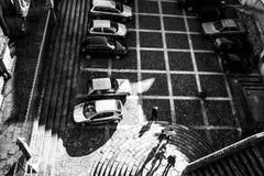 Visión desde arriba - gente y sombras Imagenes de archivo