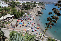 Visión desde Balcon de Europa en Nerja, España Fotografía de archivo libre de regalías