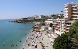 Visión desde Balcon de Europa en Nerja, España Fotos de archivo