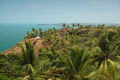 Visión desde Cabo De Rama Fort. Goa, la India Fotos de archivo