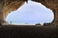 Visión desde Cala Luna Cave imagen de archivo