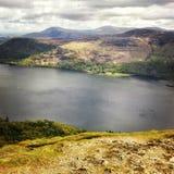 Visión desde Catbells, distrito del lago Foto de archivo libre de regalías