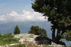 Visión desde Cret-du-Midi en Suiza Imagen de archivo