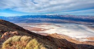 Visión desde Dante \ el 'pico de s, Death Valley Imagen de archivo