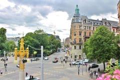 Visión desde Dramatenterassen, Estocolmo Foto de archivo