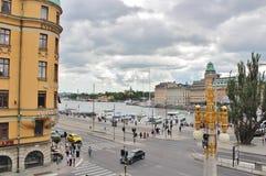 Visión desde Dramatenterassen, Estocolmo Fotos de archivo libres de regalías