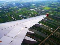 Visión desde el aeroplano Fotos de archivo libres de regalías
