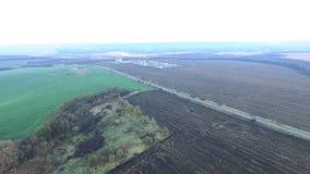 Visión desde el aire en la planta de tratamiento del gas almacen de video
