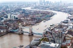 Visión desde el aire a Londres, Reino Unido Fotos de archivo libres de regalías