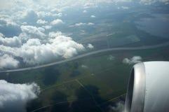 Visión desde el avión Foto de archivo libre de regalías