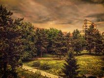 Visión desde el balcón Fotografía de archivo libre de regalías