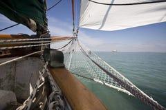 Visión desde el barco viejo fotografía de archivo