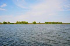 Visión desde el borde del delta de Danubio Fotos de archivo libres de regalías