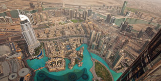 Visión desde el Burj Khalifa Imagenes de archivo