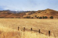 Visión desde el camino al parque nacional de reyes Canyon, los E.E.U.U. fotos de archivo