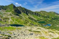 Visión desde el camino en las montañas de Tatra. Fotografía de archivo