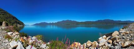 Visión desde el Carretera austral, Puyuhuapi, Patagonia, Chile fotografía de archivo libre de regalías