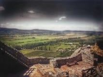 Visión desde el castillo fotografía de archivo