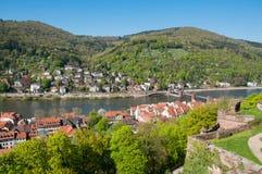 Visión desde el castillo de Heidelberg Imagen de archivo libre de regalías