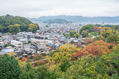 Visión desde el castillo de Himeji Imagenes de archivo