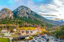 Visión desde el castillo de Hohenschwangau. Foto de archivo