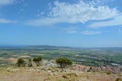 Visión desde el castillo de Montgri Foto de archivo