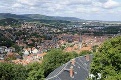 Visión desde el castillo de Wernigerode Imagen de archivo libre de regalías