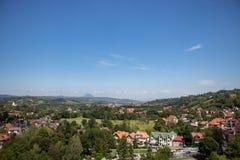 Visión desde el castillo del salvado, Rumania imágenes de archivo libres de regalías