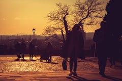 Visión desde el castillo real de Wawel Imagen de archivo