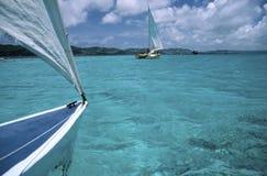 Visión desde el catamarán Imagen de archivo