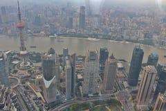 Visión desde el centro financiero de mundo de Shangai Fotografía de archivo libre de regalías
