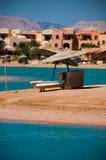 Visión desde el centro turístico EL-Gouna Fotografía de archivo libre de regalías