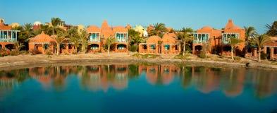 Visión desde el centro turístico EL-Gouna Foto de archivo
