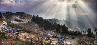 Visión desde el chalet conyugal del amor, montaña de Taiwán Lala Fotografía de archivo