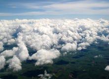 Visión desde el cielo Nubes Cerdeña, Cagliari Belleza de la naturaleza foto de archivo libre de regalías