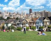 Visión desde el cuadrado San Francisco de Álamo Foto de archivo